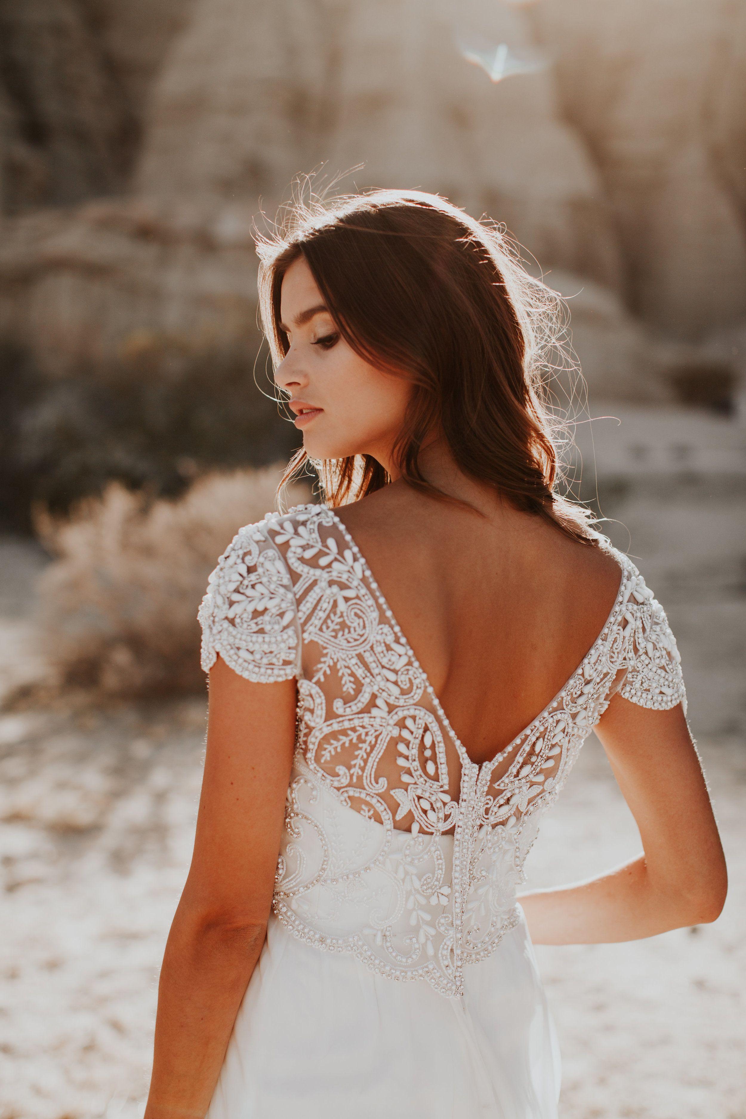 Back detail wedding dress  Anna Campbell Anna Dress  Vintageinspired embellished beaded