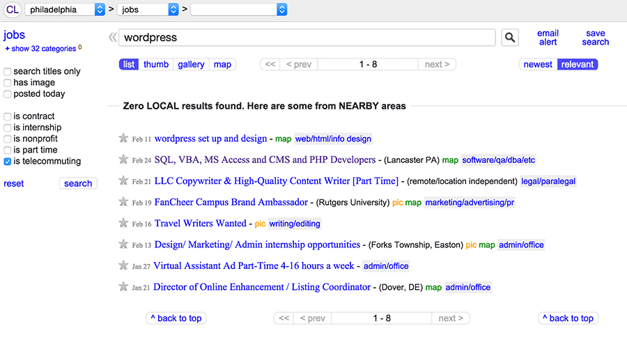 14 Tips For Finding Jobs On Craigslist Learn To Code With Me Job Posting Job Hunting Tips Job