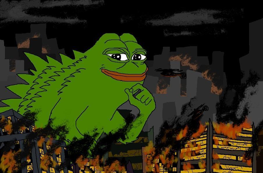 Smug Godzilla Smug Frog Frog Silly Jokes Memes