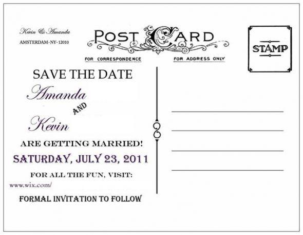 Diy Save The Dates Wedding Diy Engagement Purple Silver Postcard