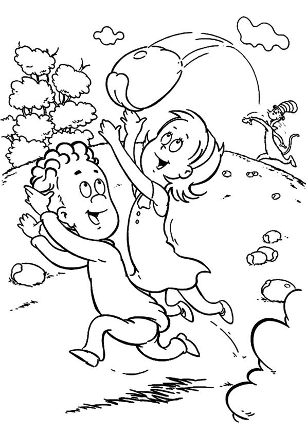 Print Coloring Image Momjunction Dr Seuss Coloring Pages