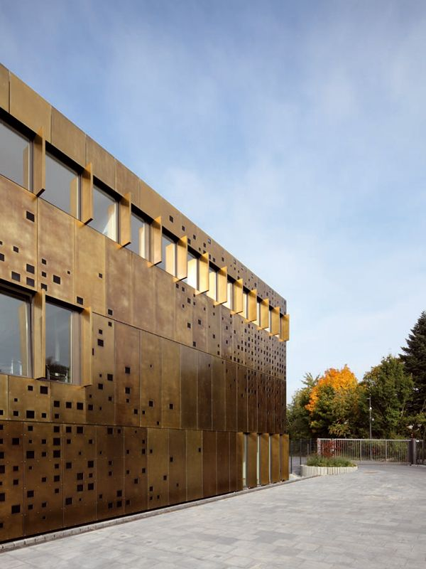 Metal Sheet And Panel For Facade Tecu 174 Brass By Kme Italy