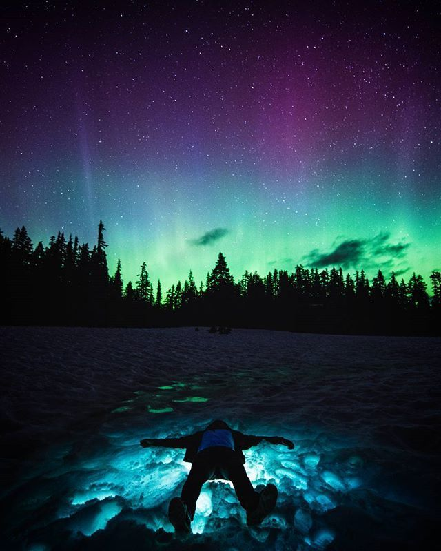 Northern Lights over Vancouver, British Columbia, Canada