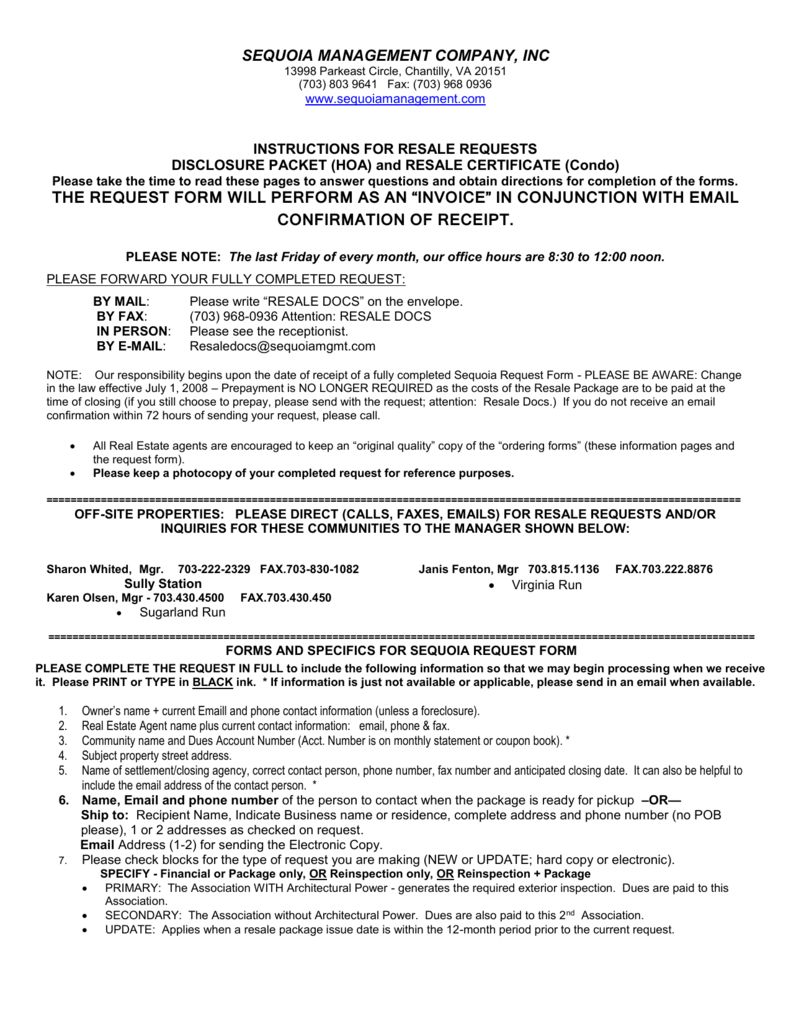 Resale Document Request Form Centreville Community Foundation With Resale Certificate Request Letter Template Community Foundation Letter Templates Lettering
