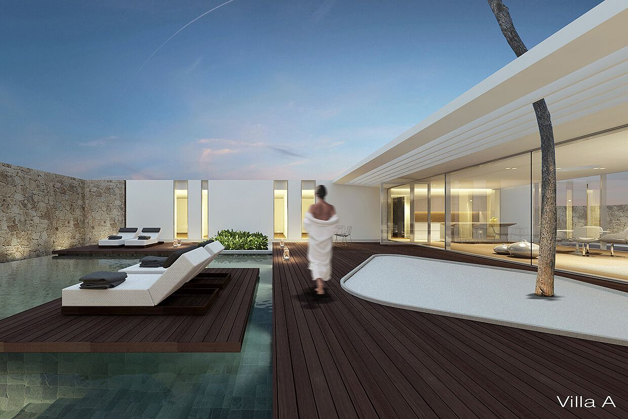Jesolo lido pool villas by jm architecture arch for Casa moderna jesolo