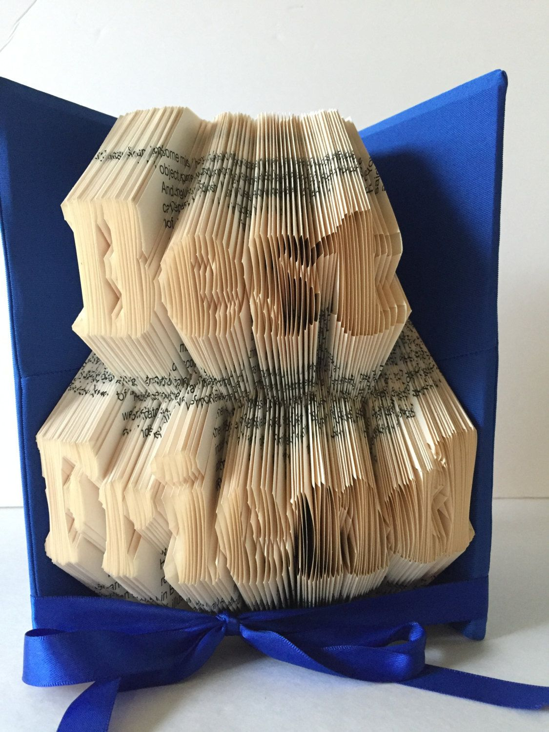 BFF, Best Friend Folded Book Art, Thinking of you gift ... - photo#32