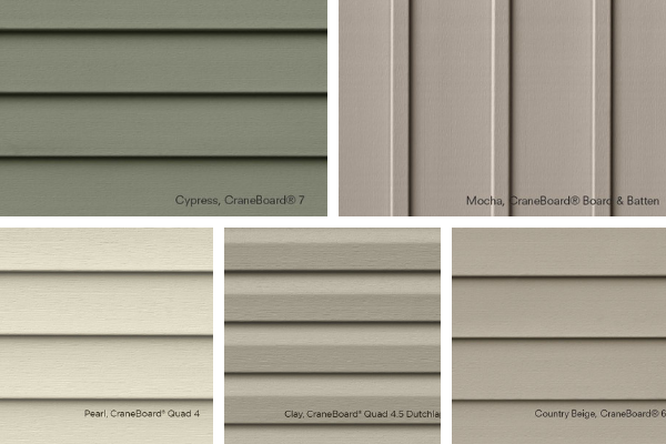 Wrap Your House In Style With Any Of These Beautiful Craneboard Siding Options That We Offer At American Windows And Exteriors Siding Options Siding Exterior