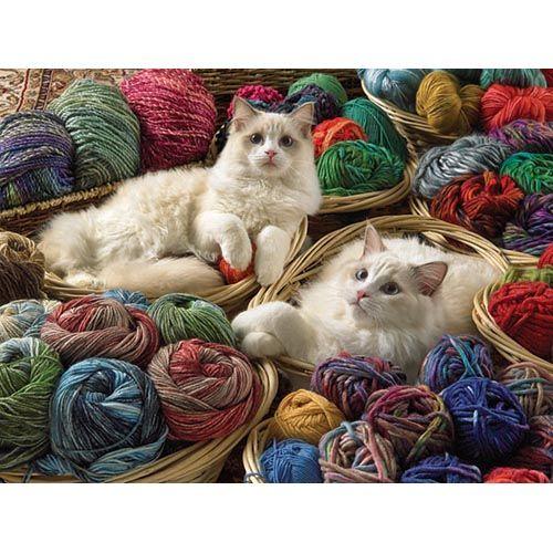 Ragdoll Cats & Yarn Jigsaw Puzzle, 275 pcs - Herrschners