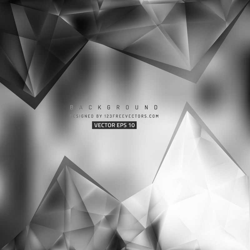 Abstract Black And Gray Triangle Polygonal Background Vintage