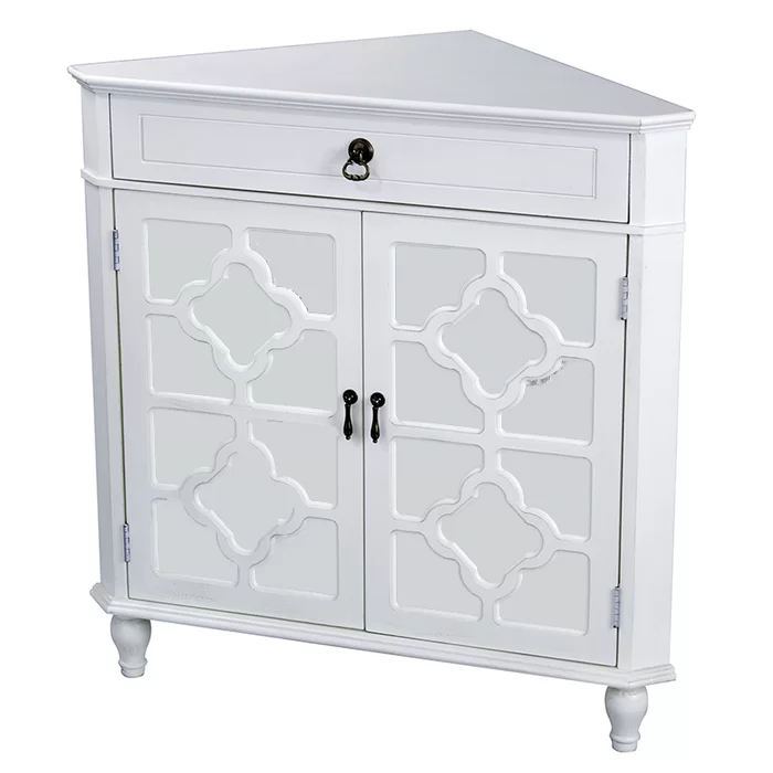 Nalley 1 Drawer 2 Door Accent Cabinet Cabinet Drawers Wood Mirror