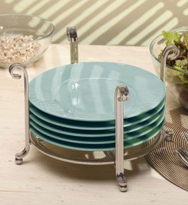 Large Serving Stand and Plate Holder - Chrome & dinner plate wire holder - Google Search | Kitchens | Pinterest ...