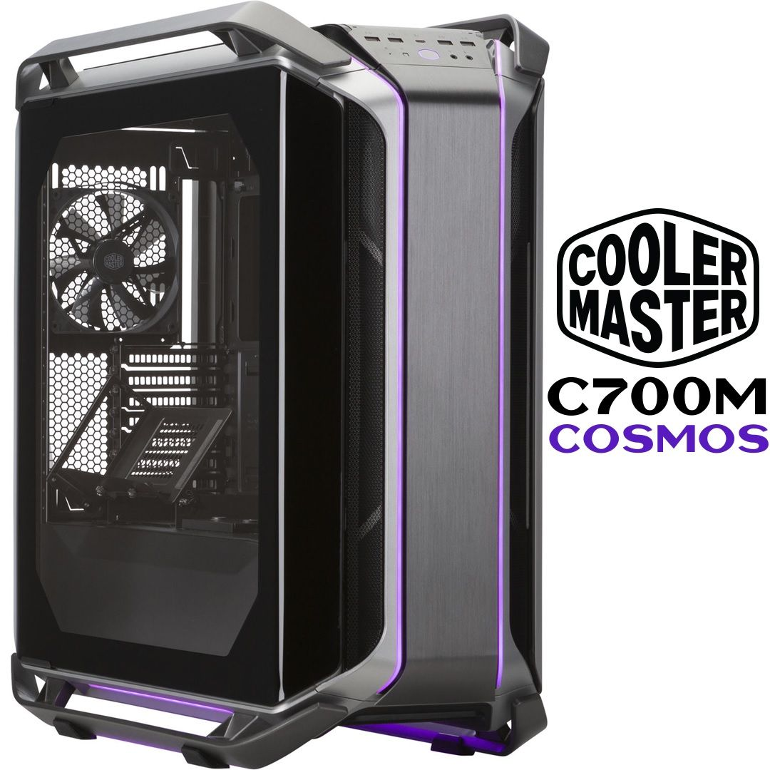 Cooler Master C700m Cosmos Full Tower Gaming Pc Case Curved