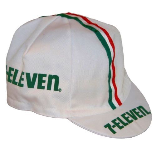 New Bella Capo Cycling Bicycle Cap White Seven 7 Eleven Design Made in  Italy  a3093a6b3