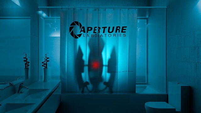 portal shower curtains like it was 1953