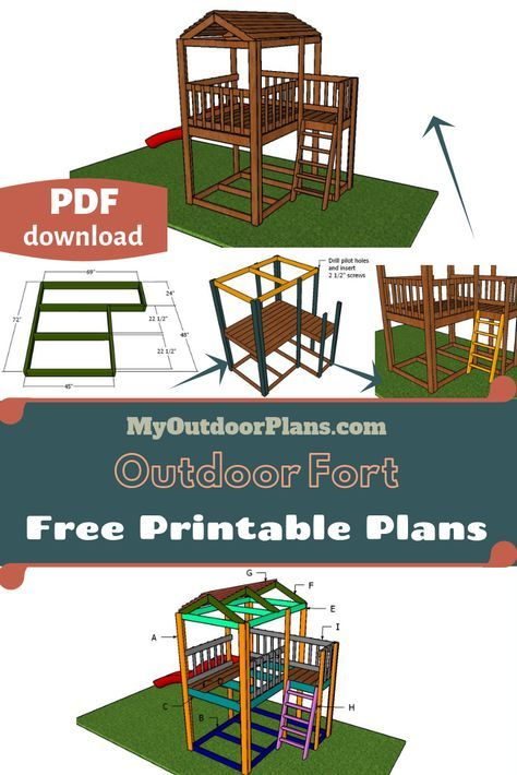 Outdoor Fort Plans | Outdoor forts, Kids forts, Fort plans
