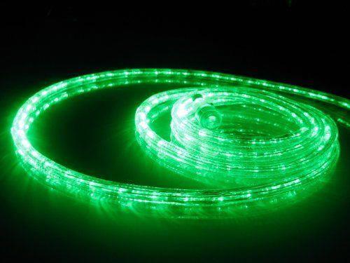 50Ft Rope Lights; Emerald Green LED Rope Light Kit; 10\