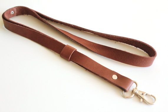 Leather lanyard, id badge, Leather Neck Strap, id badge lanyard, lanyard,  keychain, key holder, ID holder, leather keychain | Leather lanyard, Leather  keychain, Leather goodies