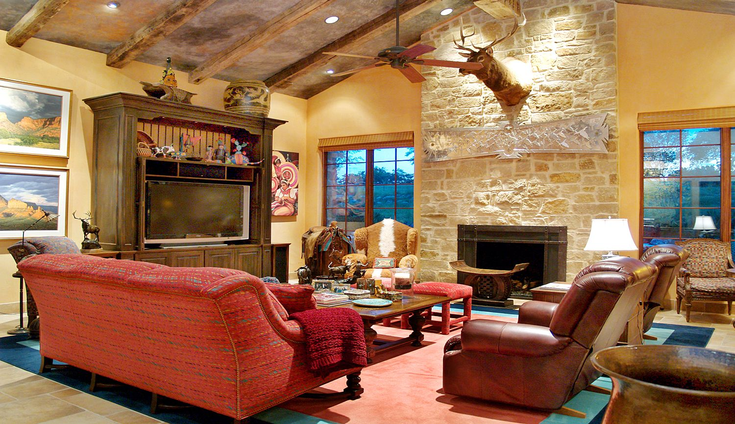 Living Room Design With Red Sofa For You By Luxury Home Designer And Builder Dearth