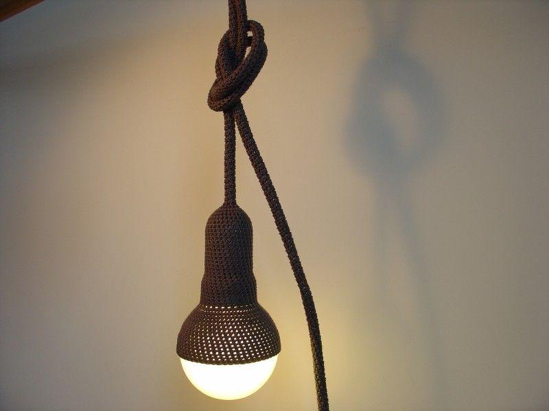 www.etaussi.nl - crocheted pendant light #pendantlight #grey #crochet #etaussi