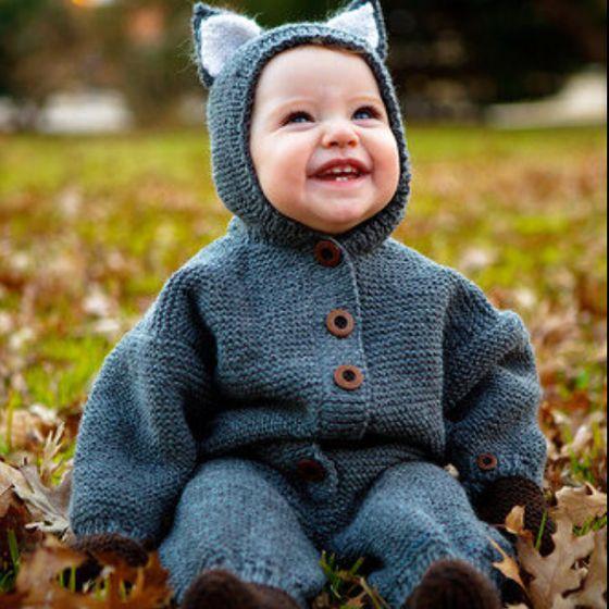 Eloise in handknit costume.