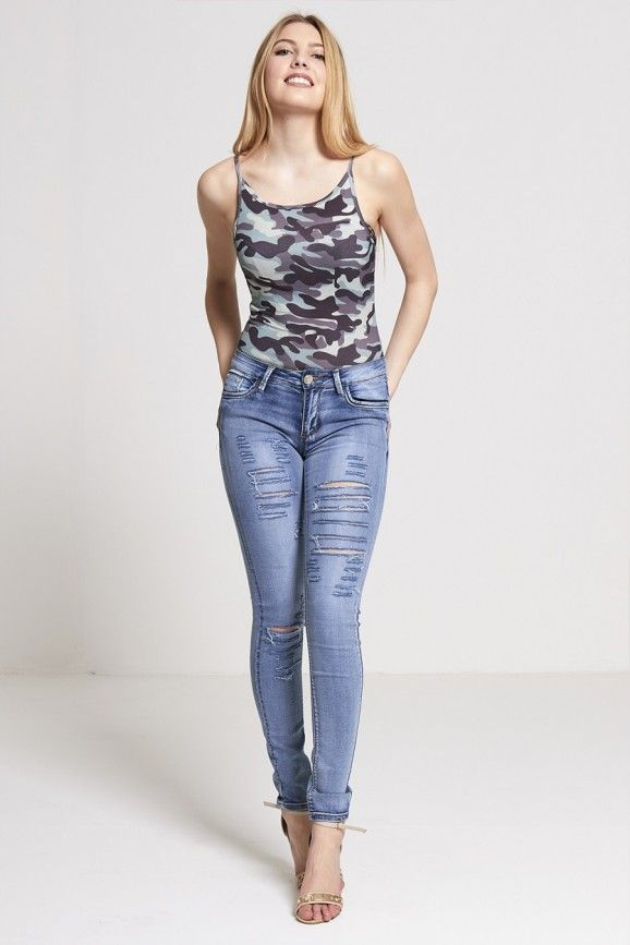 fcfe7d9d09863 J5Fashion.com Wholesale Womens Stonewashed Extreme Ripped Skinny Jeans  Women Wholesale Clothes