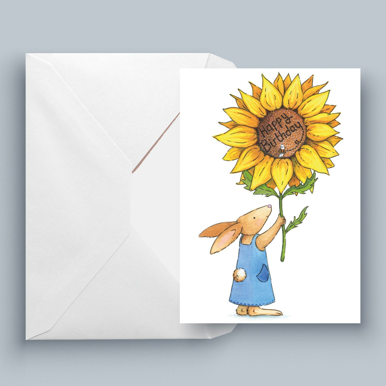 Sunny Bunny – Printed Greeting Card Individual Harry & Harriet