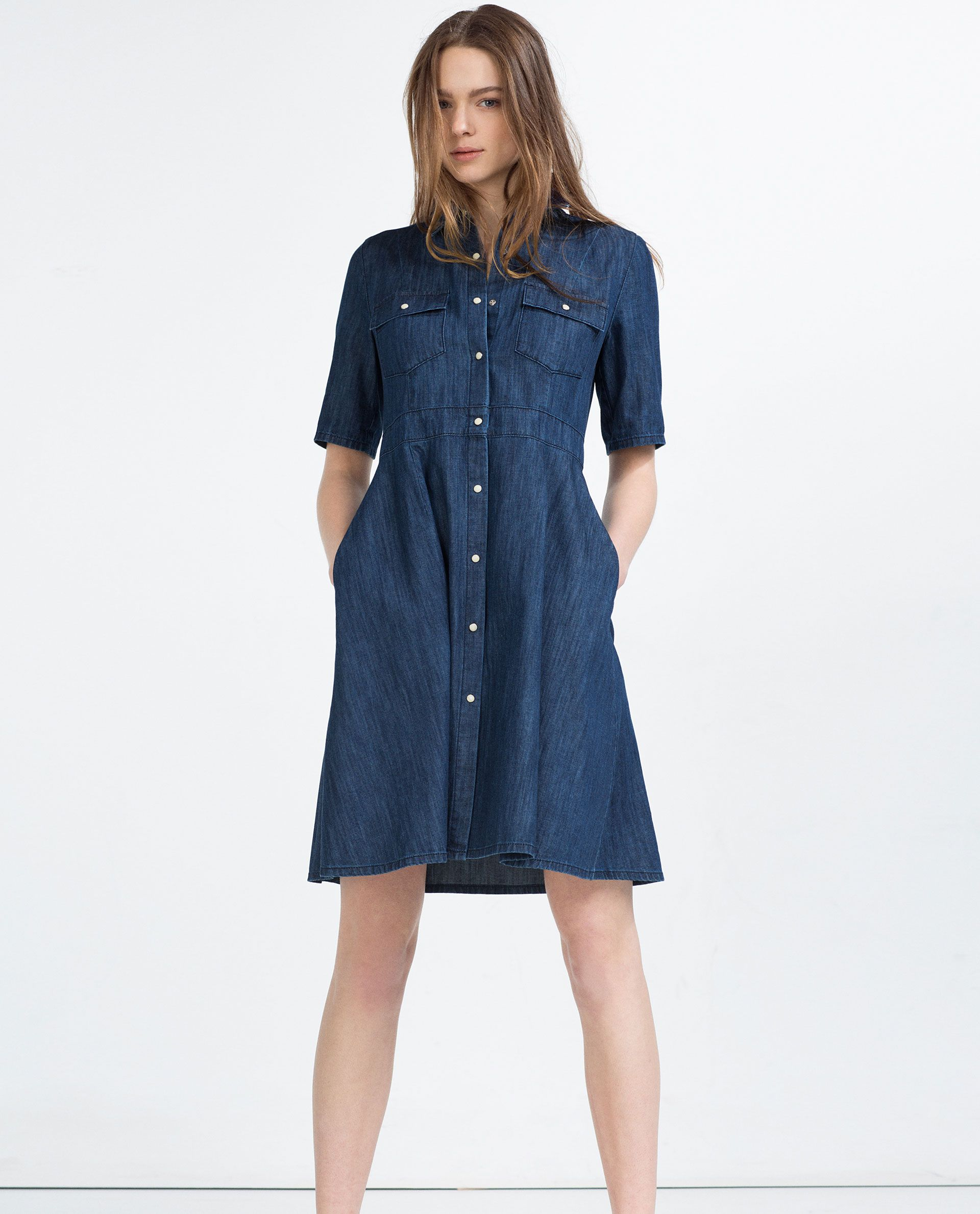 7b3ec0bc806 DENIM DRESS - Midi-DRESSES-WOMAN