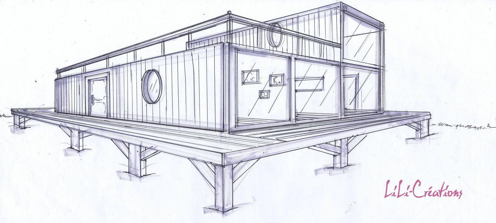 Transformer Container En Maison se rapportant à maison container sur pilotis | projets de maisons, maison est et la