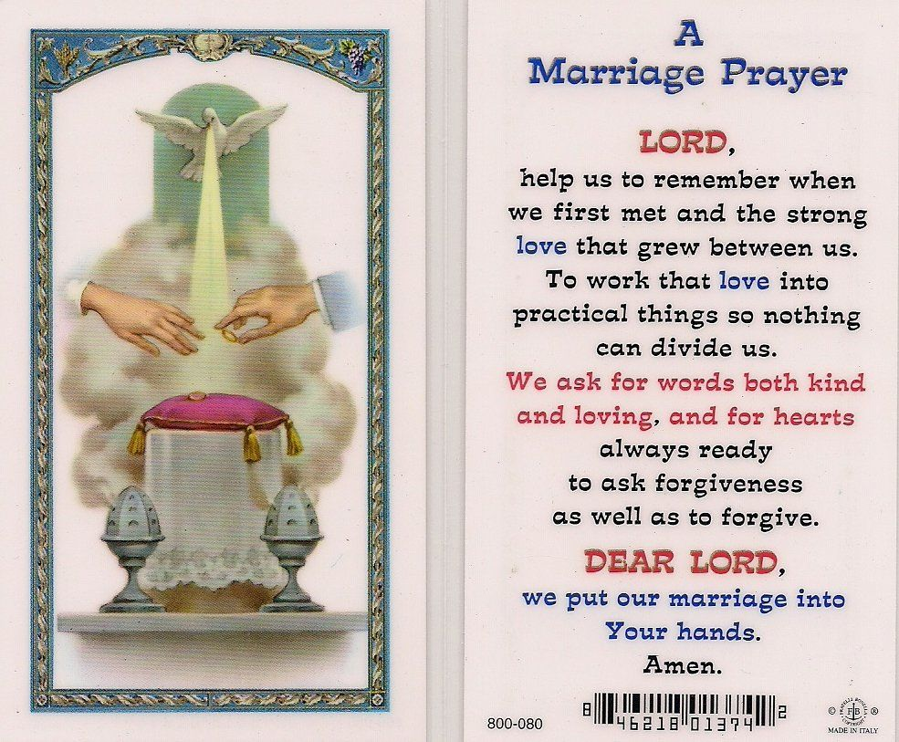 Catholic Prayer For Married Couples