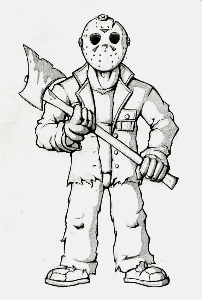 Jason Coloring Pages Friday The 13th Disegni Da Colorare
