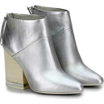 Ash Indy Booties in Silver as seen on Victoria Justice