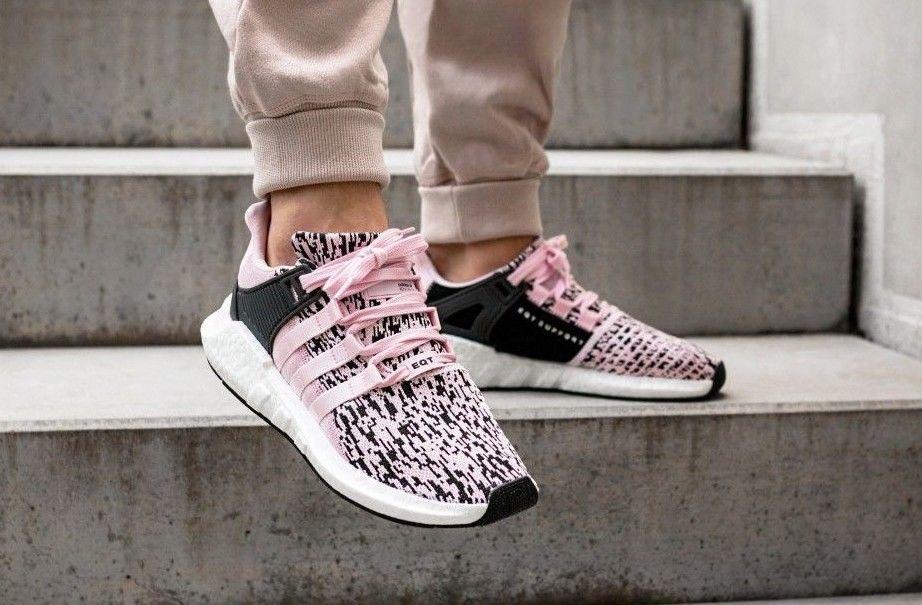 Adidas EQT Support 93 / 17 pregunto Pink & los blanco zapatillas en todos los & tamaños f2bb27