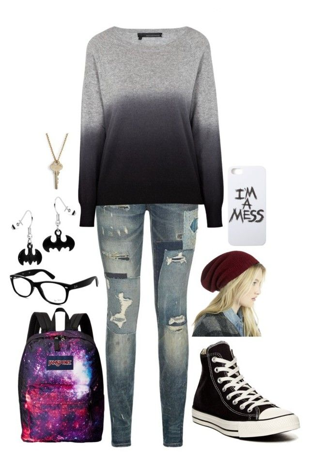 """Literally Me"" by mmgio on Polyvore featuring Polo Ralph Lauren, 360 Sweater, Converse, Sole Society, Ray-Ban, LAUREN MOSHI, JanSport and The Giving Keys"
