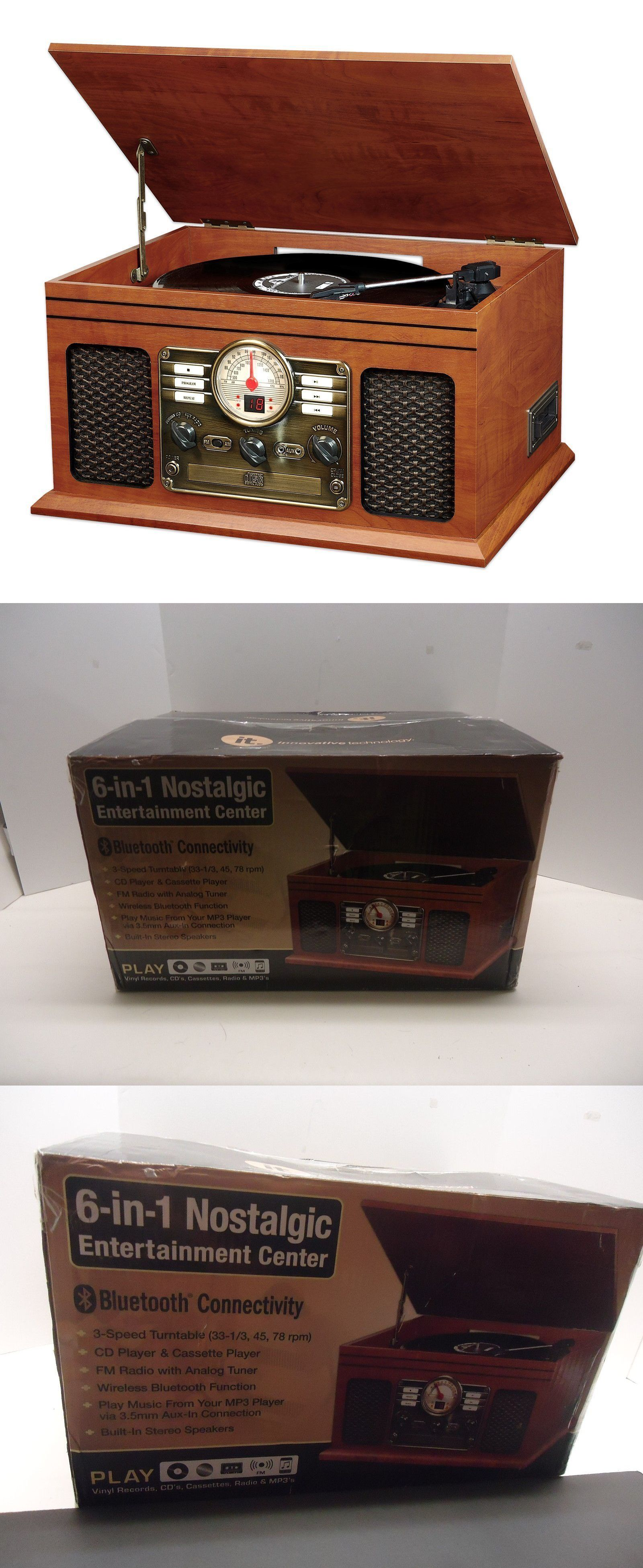 Record Players Home Turntables: Innovative Technology Itvs 200 6 In 1  Turntable Vintage Entertainment