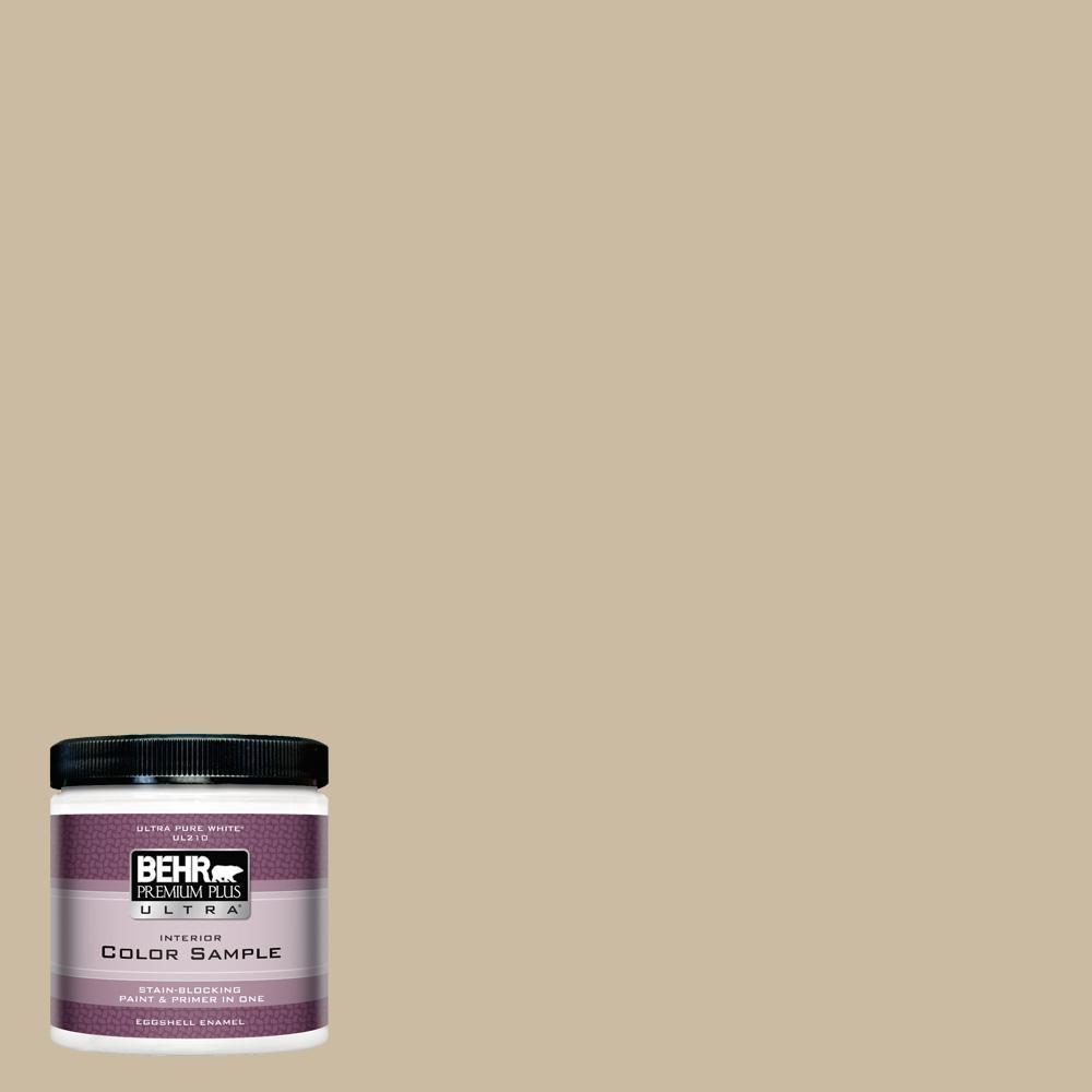 Behr Premium Plus Ultra 8 Oz 710c 3 Gobi Desert Eggshell Enamel Interior Paint And Primer In One Sample Interior Paint Exterior Paint Flat Interior