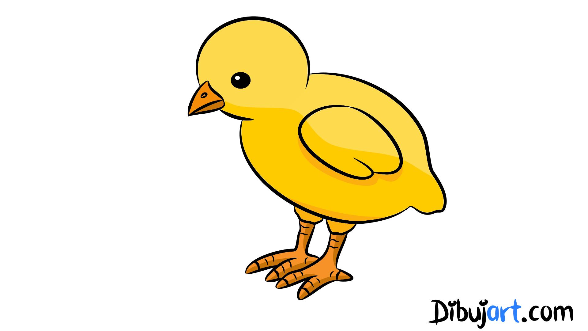 Como Dibujar Un Pollito Pio Paso A Paso Pollitos Dibujo Pollito Pollo Para Dibujar