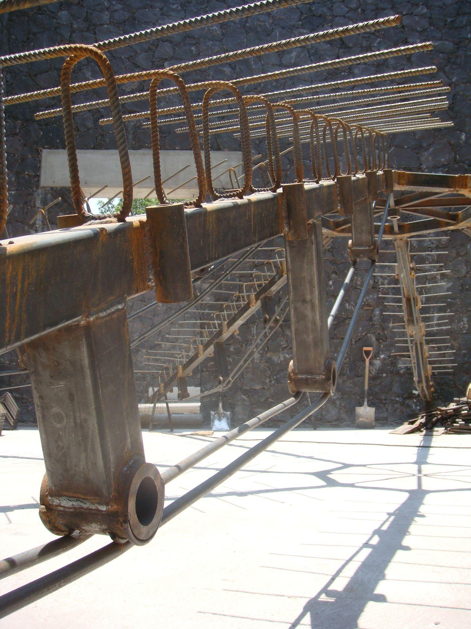 Estructura de Acero para Cubierta en Bautisterio en la iglesia de ...