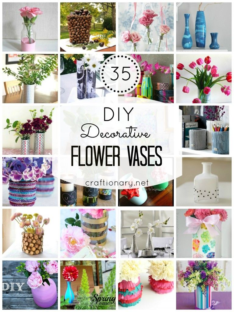 35 Diy Flower Vases Creative Tutorials Flower Vase Diy Spring Diy Diy Crafts To Sell