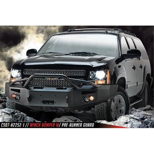 Fab Fours Cs07h22521 2007 2013 Chevrolet Suburban 2500 Winch Bumper With Pre Runner Grille Guard As Shown Chevy Tahoe Custom Truck Bumpers Chevy