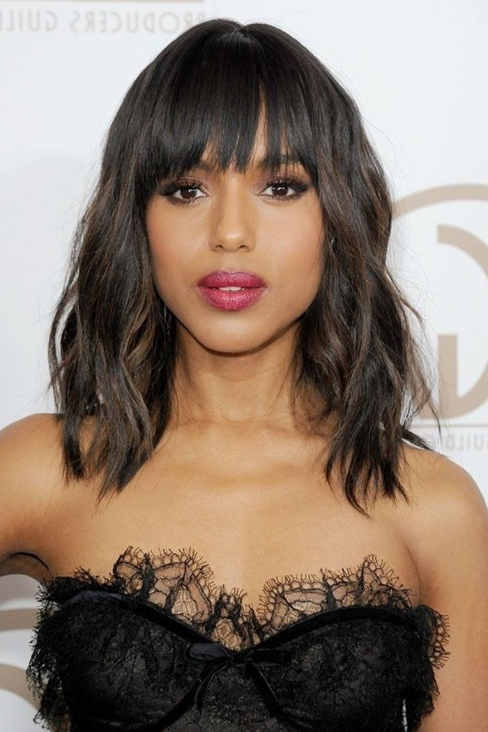 Idée Coiffure Description kerry washington, robe noire