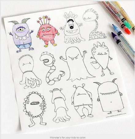 Freebie | Printable Monsters Coloring Page