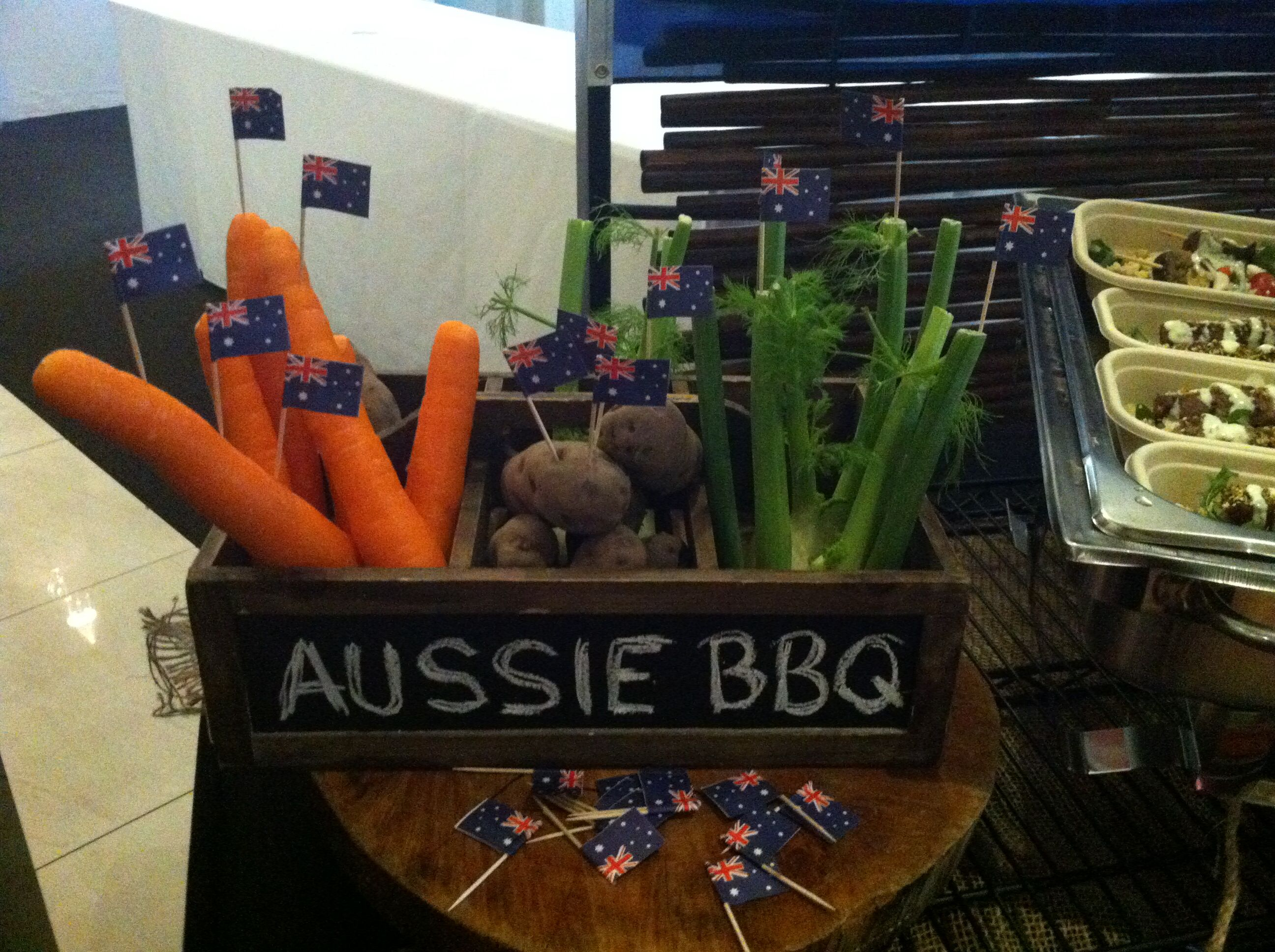 menu tasting for our aussie bbq food station fortecatering