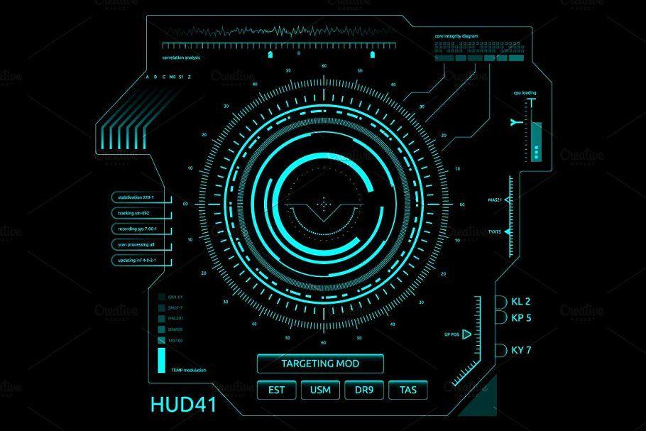 Futuristic User Interface Hud User Interface Futuristic Interface