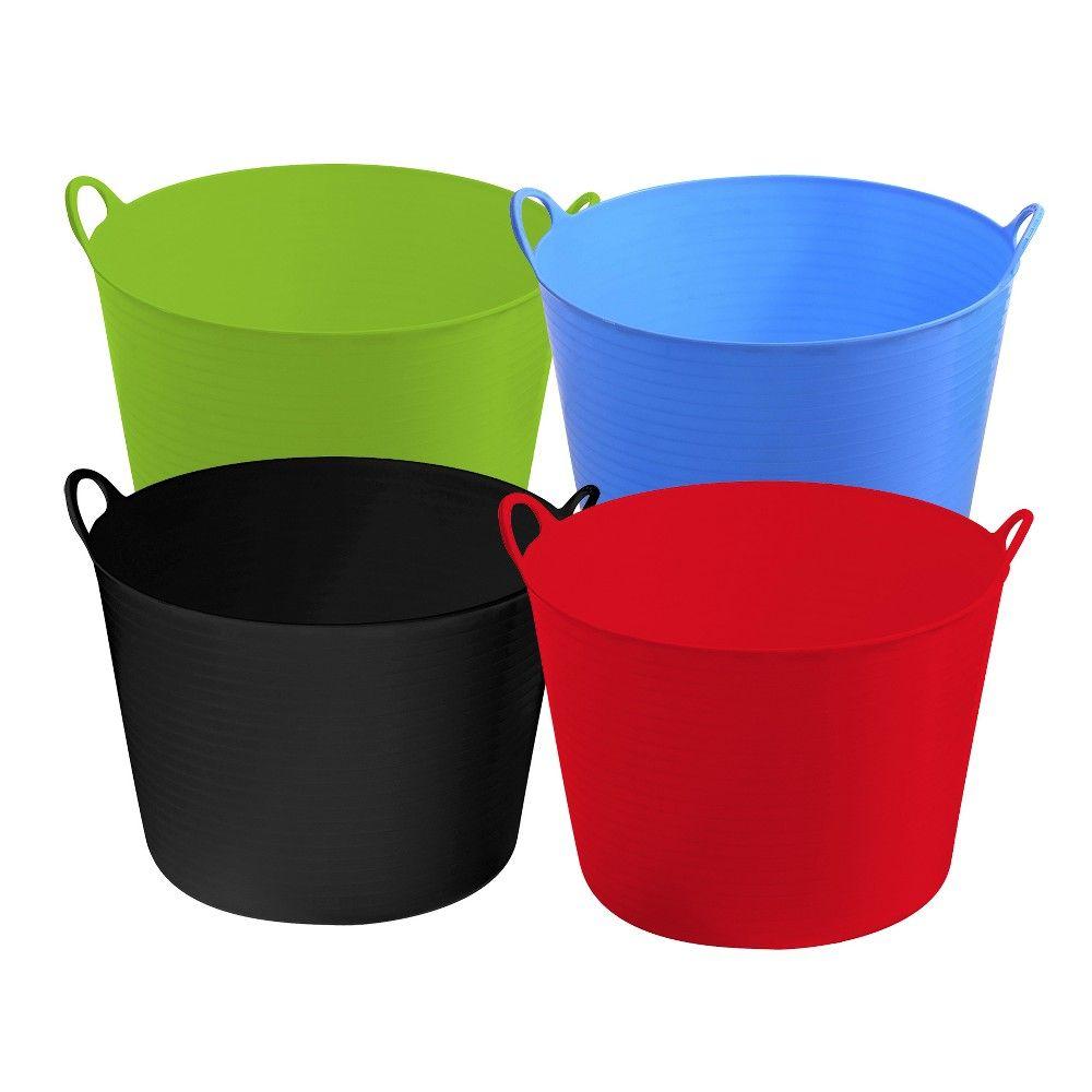 Ezy Storage Flexi 11 Gallon Flexible Storage Tub Plastic Multi Use 10 Pack In 2020 Storage Tubs Flexi Tub
