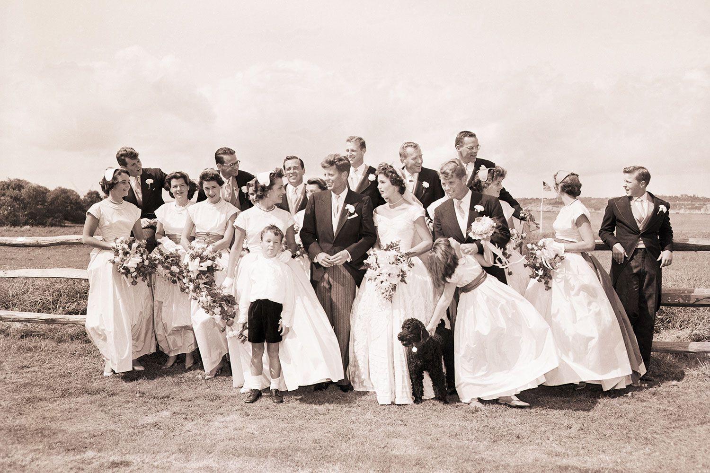 Jackie kennedy wedding dress on display  A Look Back at JFK u Jackie Kennedyus Wedding Day in Photos