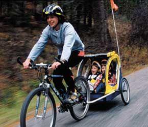Bike Trailer With Two Kids Tandem Bike Pinterest Kids Boys