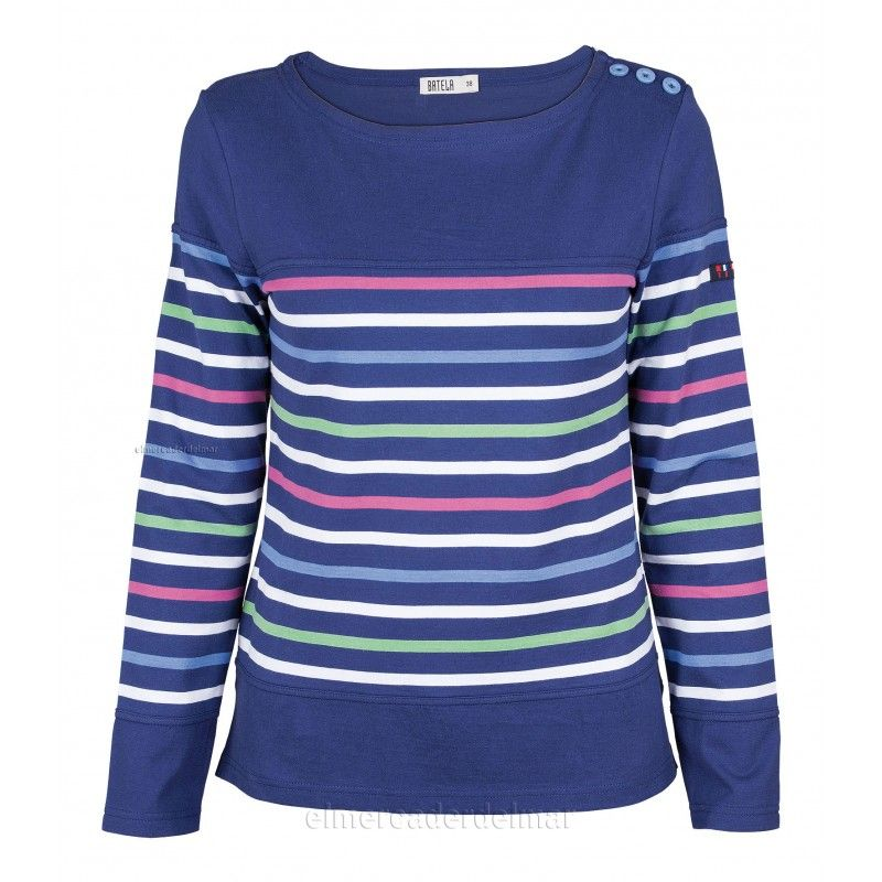 884b6d9023227 Camiseta náutica algodón de señora