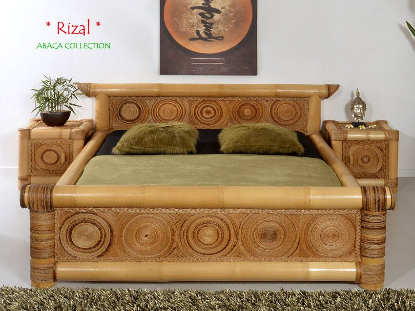 Rizal Designer Bambusbett 200x220 Abaca Collection Muebles De