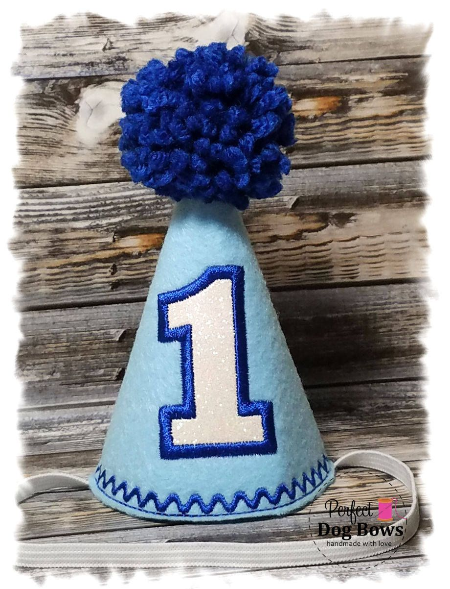 Dog Birthday Hat Boy Party Dogs First Pet Photo Prop By Perfectdogbows On Etsy