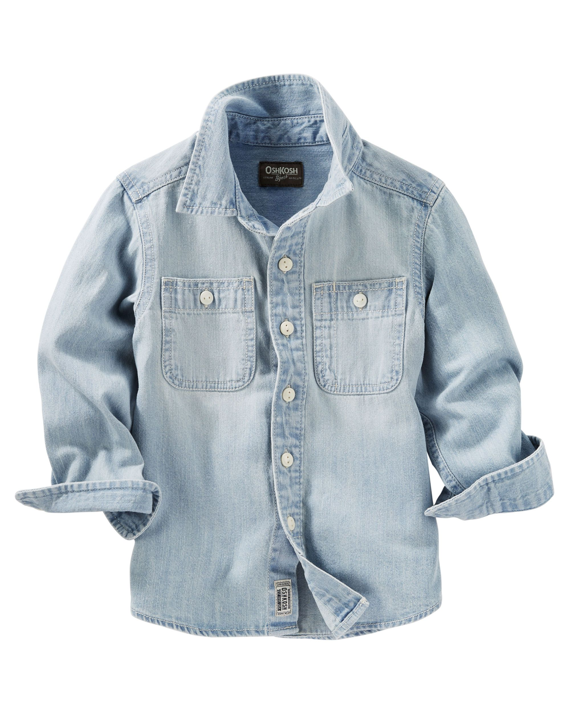 2 Pocket Button Front Chambray Shirt